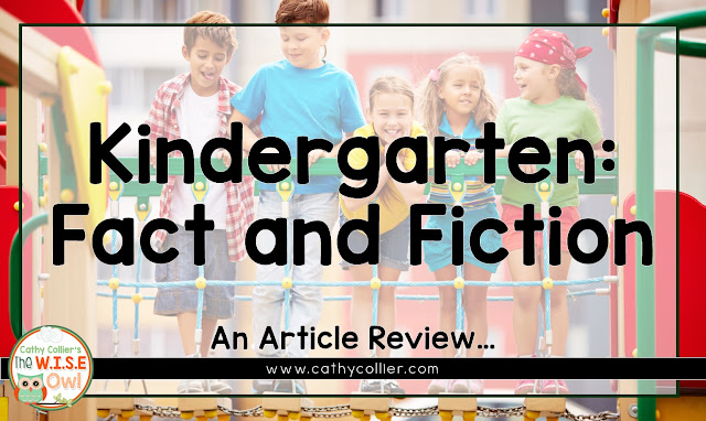 Kindergarten: Fact and Fiction. Using an article by Mesmer and Invernizzi, one can make the argument for the importance of Kindergarten.