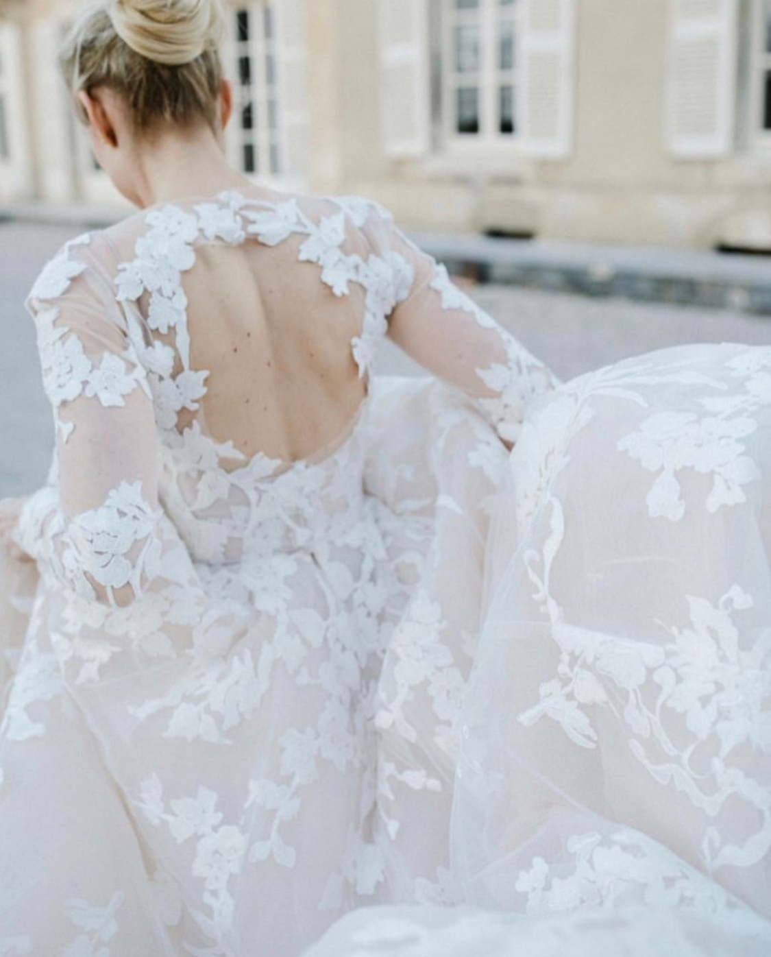 Love Story: A Monique Lhuillier Wedding Gown of Dreams at the Chateau de Varennes@