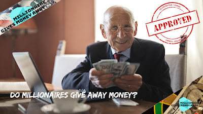 Do Millionaires Give Away Money?