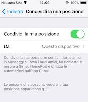 Condividi la mia posizione iPhone