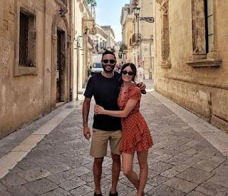Simon Phan with his wife Mallory Jansen