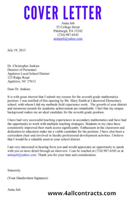 Cover Letter Pdf Sample Sample Contracts