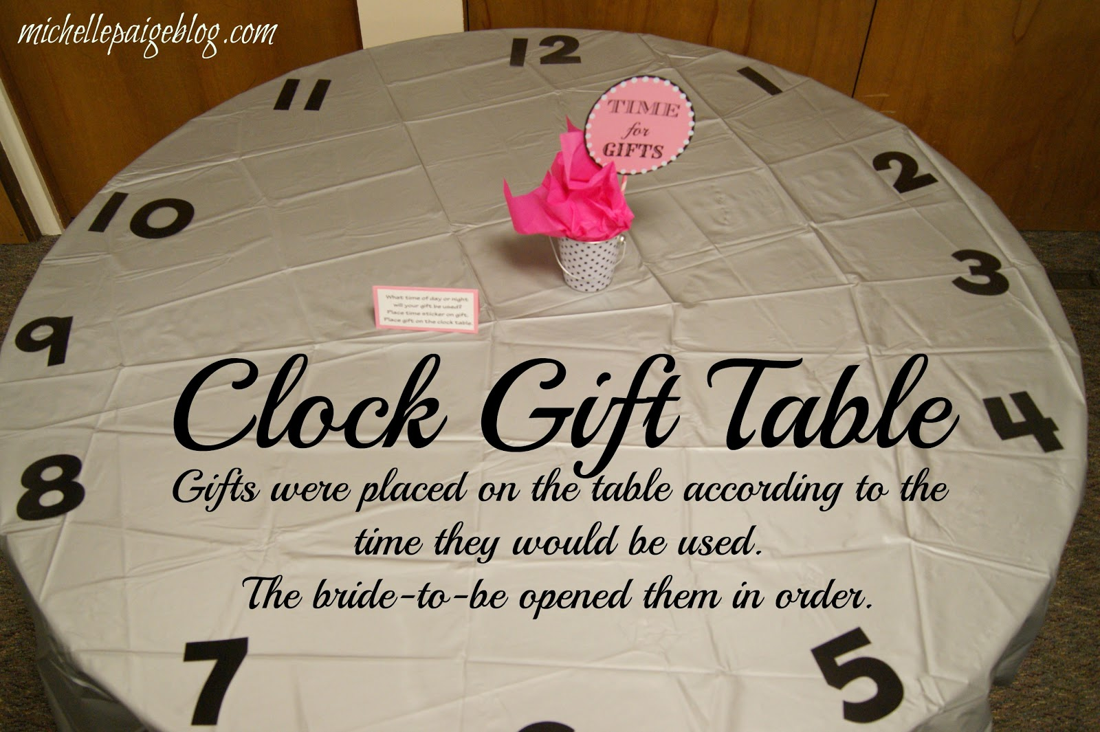 Wedding Gift Clock: Michelle Paige Blogs: Time Themed Bridal Shower