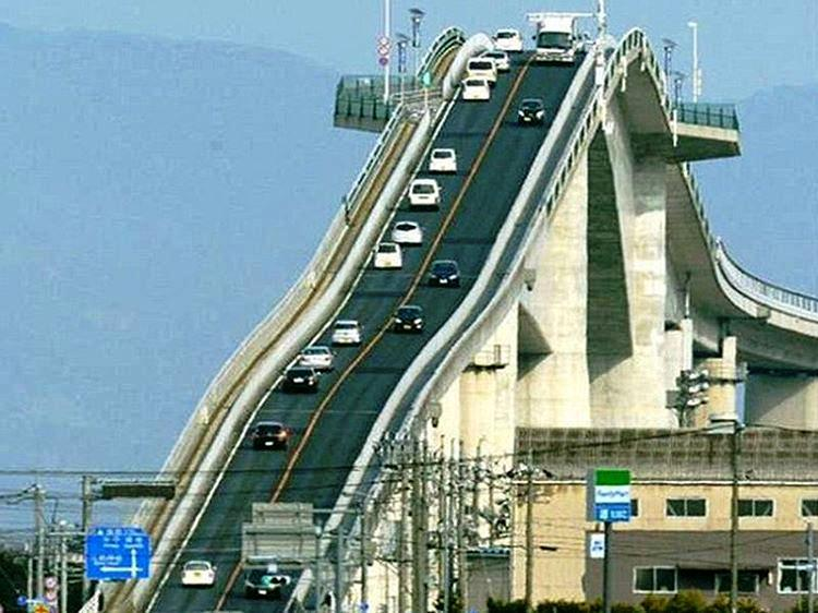Roller Coaster Bridge (Eshima Ohashi), Japan - A Dangerous Bridge That Makes A Great Experience For Adventure Lovers