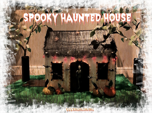 Crafting With Cats  Part X ©BionicBasil® Catnip Pumpkin Toys and The Spooky Haunted House Photo Set