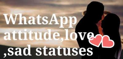 Love Attitude Whatsapp Status in Hindi