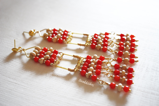 Orecchini Red beads