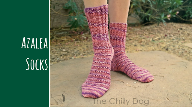 Pattern Release Announcement: Meet the Azalea Socks. It's a feminine knitting pattern that's sure to keep your toes cozy.