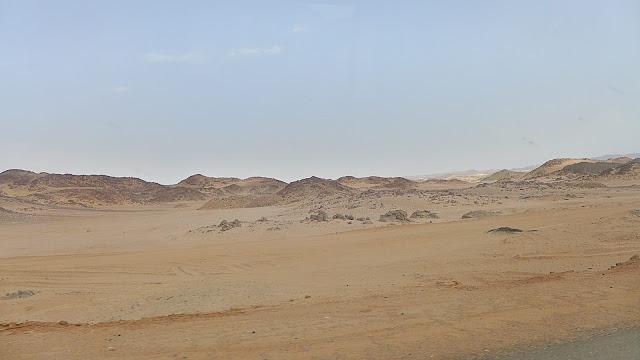 Arabische Wüste östlich des Nils in Ägypten