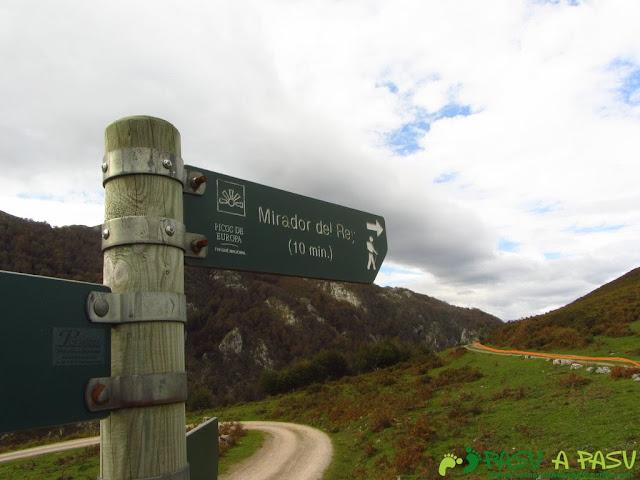 Señalizador del Mirador del Rey en Picos de Europa