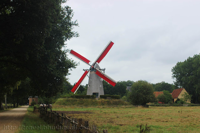 traditional dutch windmills bokrijk
