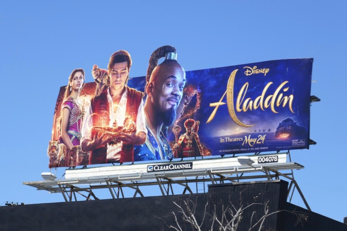 Aladdin extension cut-out billboard