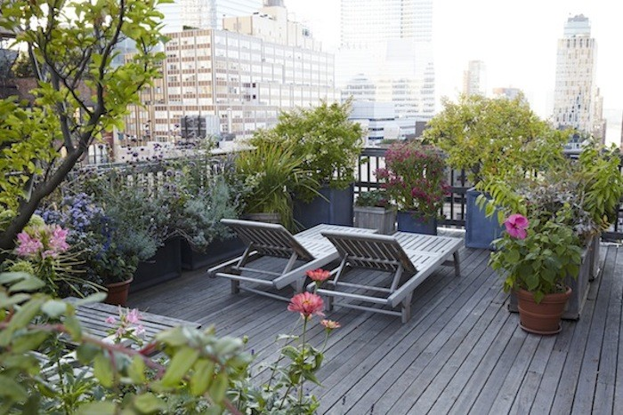 un jardin sur le toit nyc. Black Bedroom Furniture Sets. Home Design Ideas