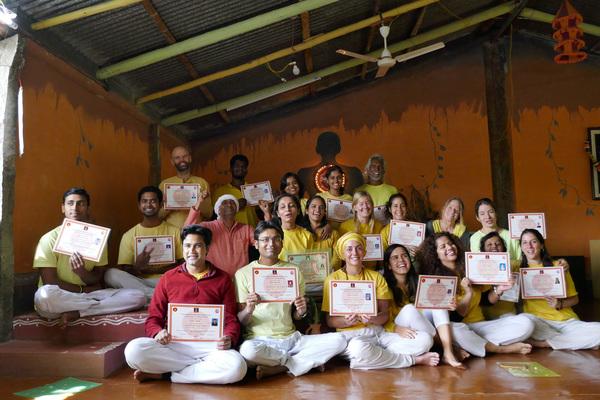 Certified Students of TTC Yoga from Inteyoga Ashram, near Banglore India