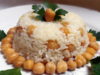 Rice Pilaf with Chick Peas (Nohutlu Pilav)