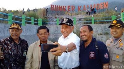 Datangi Bunker Kaliadem di Merapi, Mensos Pastikan Sleman Aman - Info Presiden Jokowi Dan Pemerintah