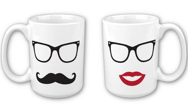 this pairs of mugs can be a cute couples present for valentines day they can be ordered in different mug sizes and colors more valentines day gifts and