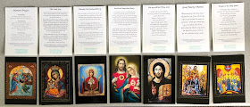 Samples of prayer cards I give away