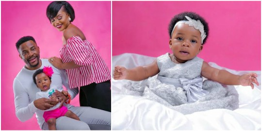 Photos: Finally Ebuka and wife Cynthia share beautiful photos of their daughter