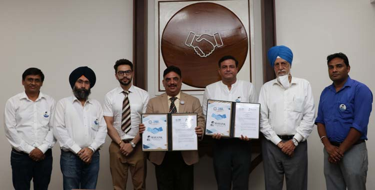 Dr Harsh Sadawarti, Vice Chancellor, CT University and Deepak Sharma, Vice President, Mayank Foundation with others during MoU Signing Ceremony
