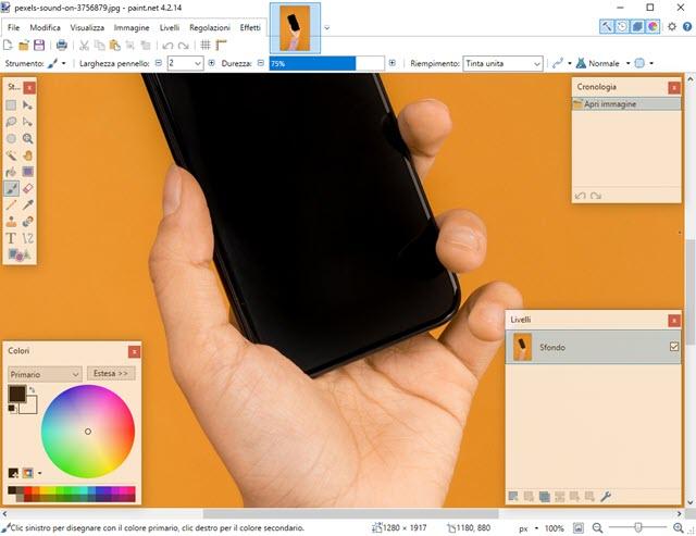 paint-net interfaccia