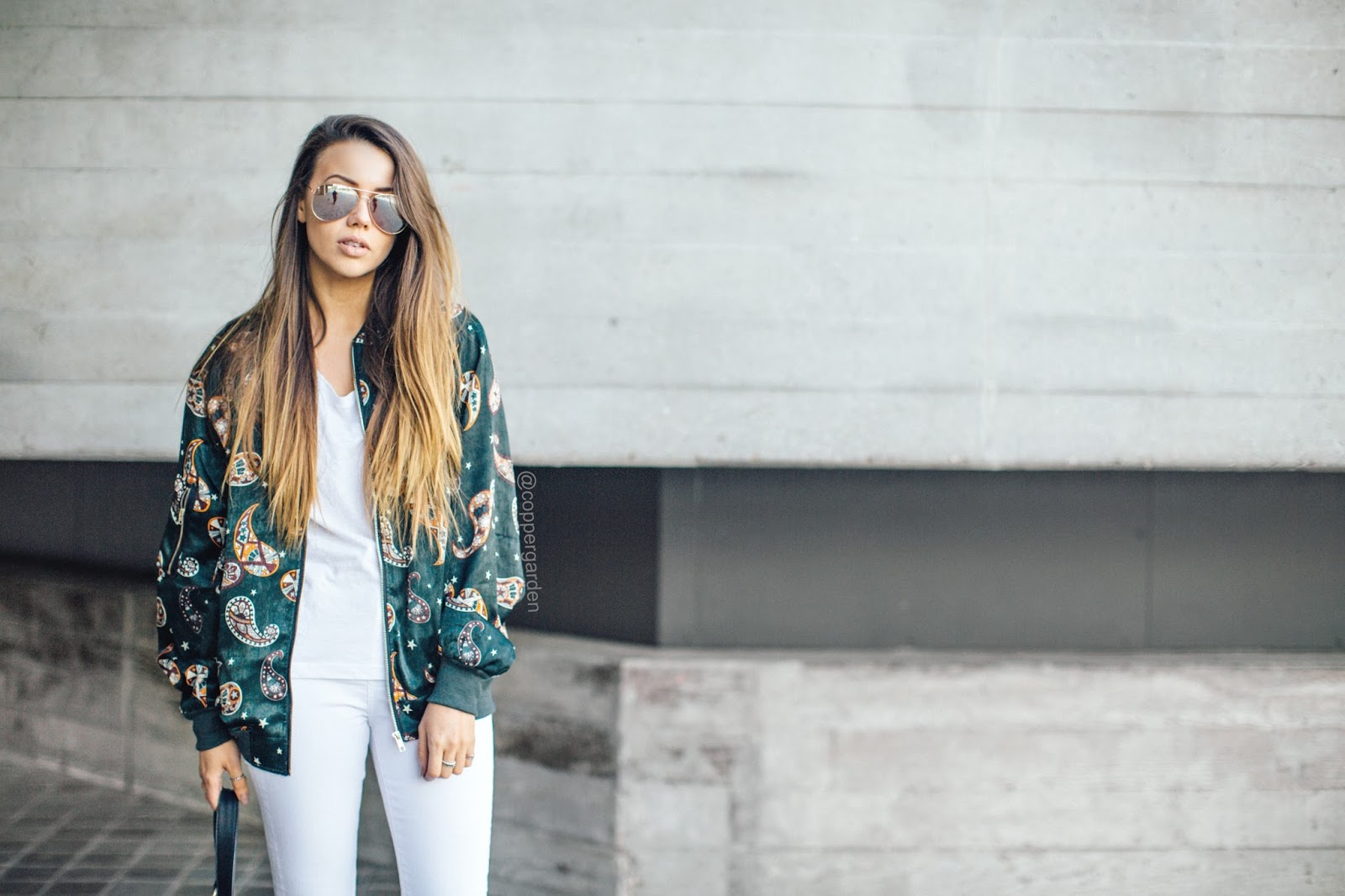 copper garden, fashion and lifestyle blogger, public desire lace up suede heels, paisley printed bomber jacket, festival style, summer 2016 outfit ideas, all white outfits,