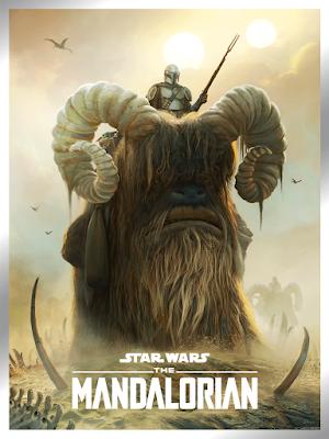 "The Mandalorian ""Bantha Ride"" Star Wars Giclee Print by Pablo Olivera x Bottleneck Gallery"