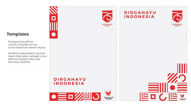 Template Poster Kemerdekaan Ke-75 Republik Indonesia