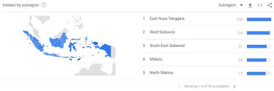 region wilayah di google trends