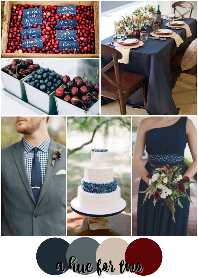 Navy and cranberry rustic summer wedding color scheme a hue for two thank you junglespirit Images