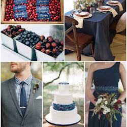 Berries & Cream - A Navy and Magenta Summer Wedding Colour Scheme ...