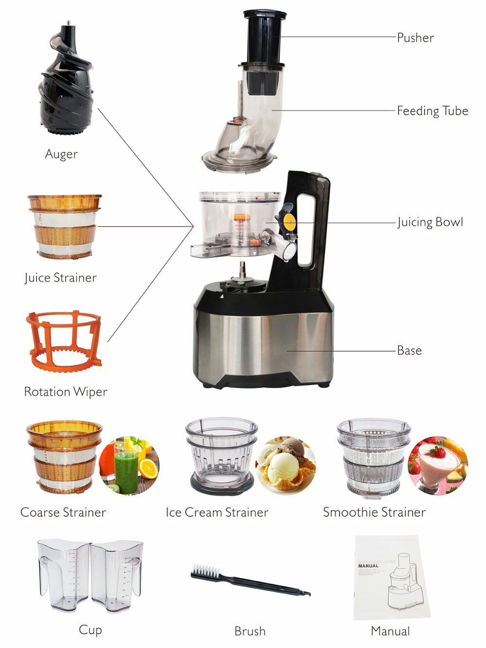 PROMO OX-875 Master Slow Juicer Oxone 240W - 2Lt di Oxone ...