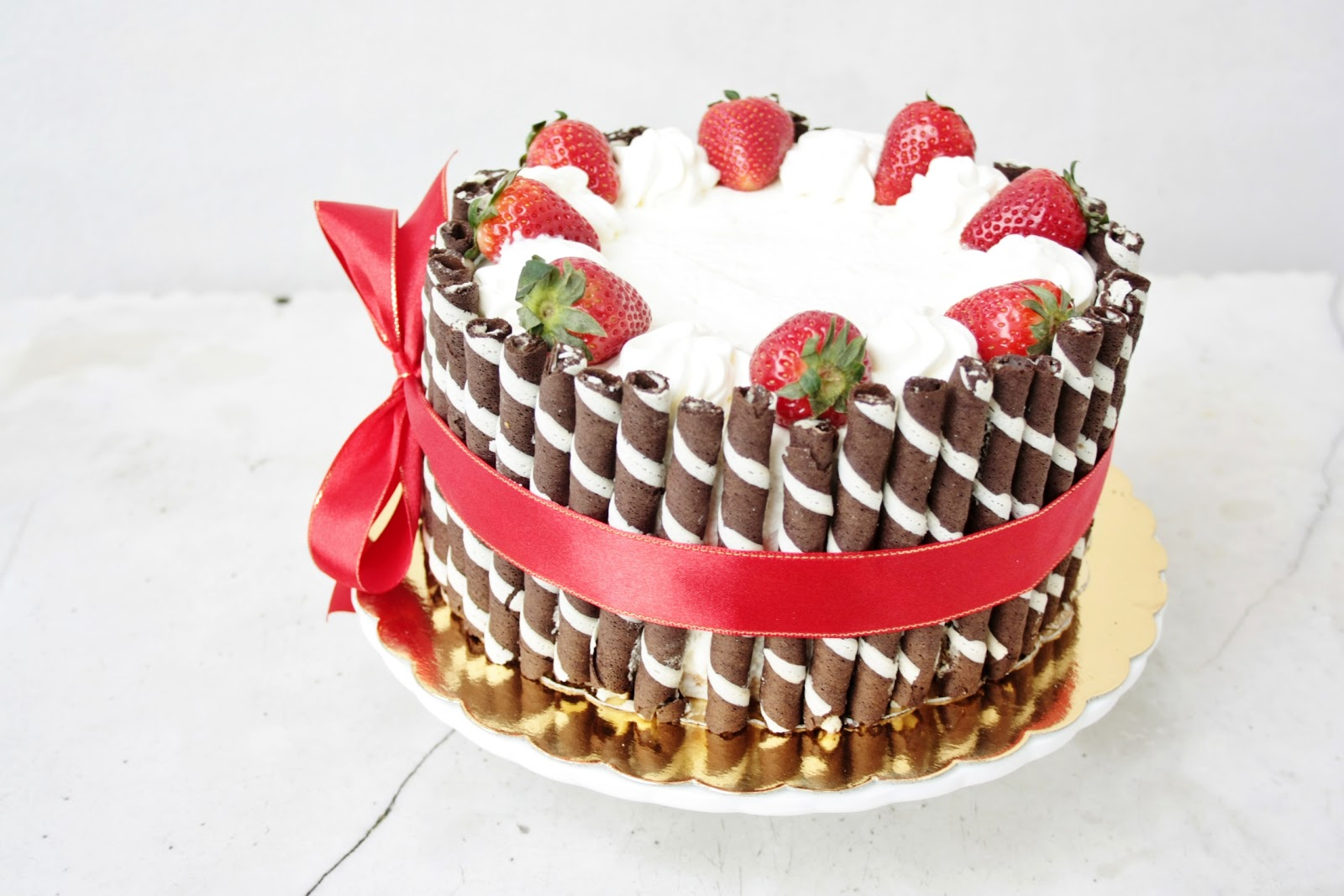 everything is poetry strawberry cream birthday cake
