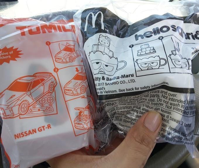 Mainan Happy Meals McD - Hello Kitty Sanrio dan Kereta Tomica Yang Laku Keras