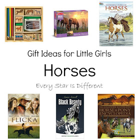 Horse themed gift ideas for girls.