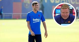 Koeman name Barcelona versatile player Sergi Roberto possible return date