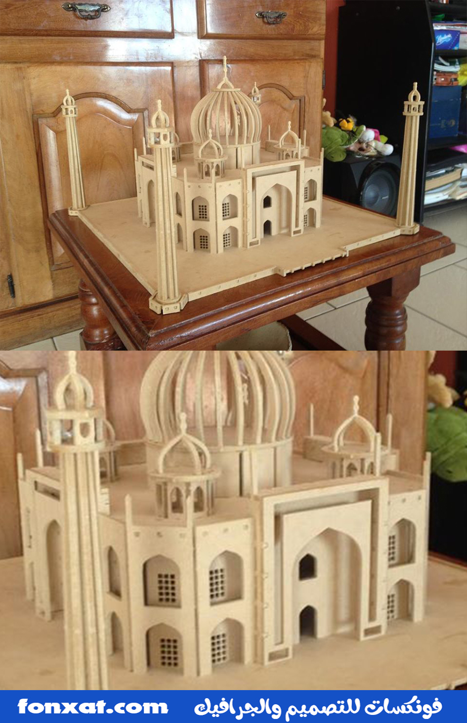 Designing a mosque using laser engraving machines