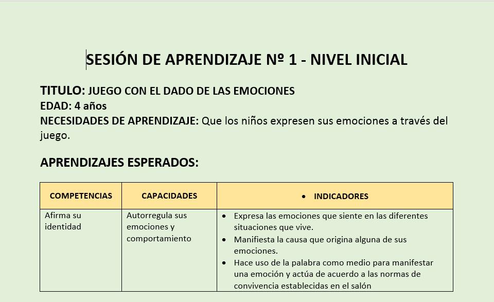 Sesiones de inicial para la intervenci n del curr culo por for Nuevo curriculo de educacion inicial