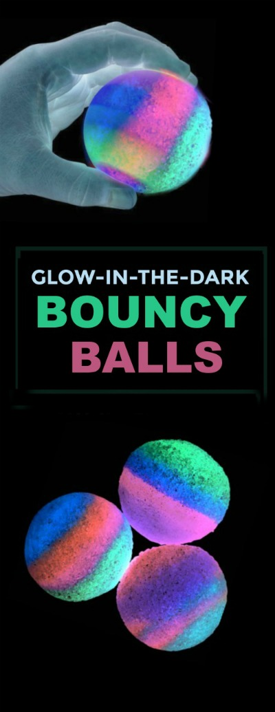 MAKE YOUR OWN BOUNCY BALLS that glow-in-the-dark! #bouncyballsdiy #bouncyball  #howtomakebouncyballs #artsandcraftsforkids #craftsforkids #activitiesforkids #glowinthedark #glowinthedarkbouncyballs