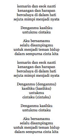 Lirik Lagu Andien Sempurnalah Cinta (Ost Merry Riana)