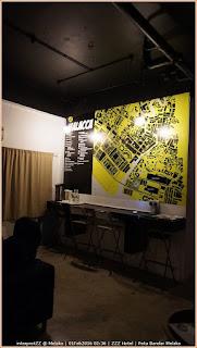 gambar Peta Melaka dalam bentuk hiasan minimalist