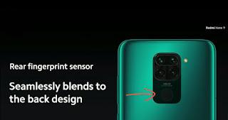 Sensor Sidik Jari Redmi Note 9
