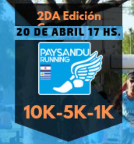 10k 5k y 1k Paysandú Running en semana de turismo (Paysandú - Uruguay, 20/abr/2019)