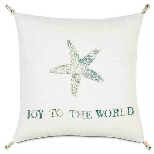 Joy Pillow Starfish Motif