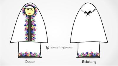 Cara Memotong Pola untuk Membuat Mukena Bali