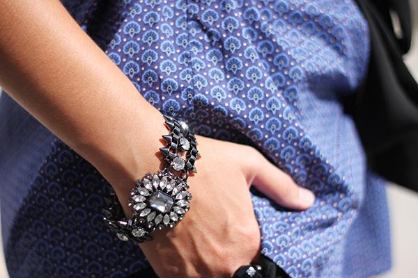 bracelet bling imprimé graphique