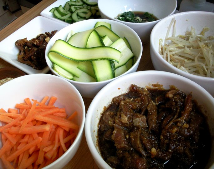 Bibimbap ingredients