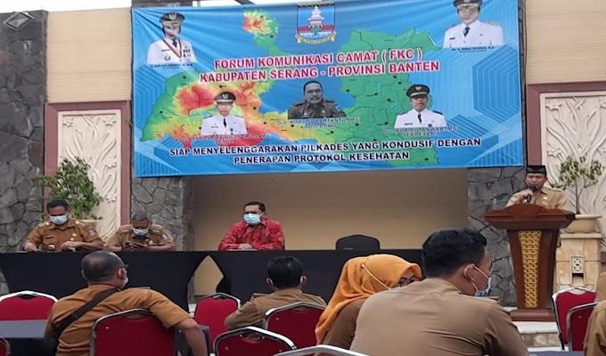 FKC Kabupaten Serang Gelar Konsolidasi Pilkades Kondusif dengan Penerapan Prokes