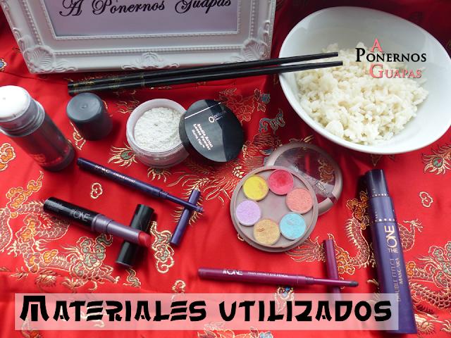 Maquillaje de geisha Carnaval A Ponernos Guapas materiales