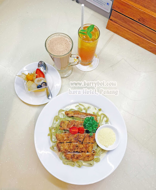 Chicken Chop Pasta Delicious Set Menu at Ixora Hotel Penang Penang Blogger Influencer